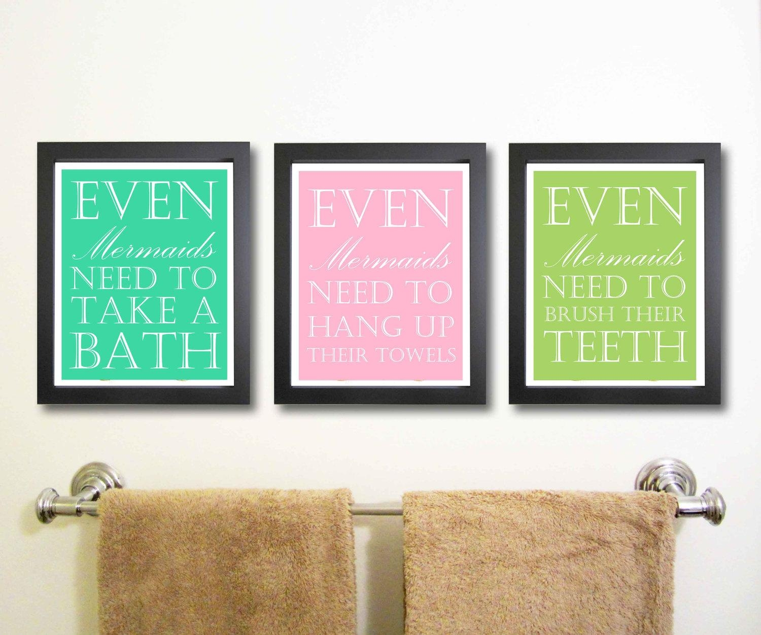 Impressive Bathroom Wall Art With Black Framed Hanging Decoration For Kids Bathroom Wall Art (View 6 of 20)