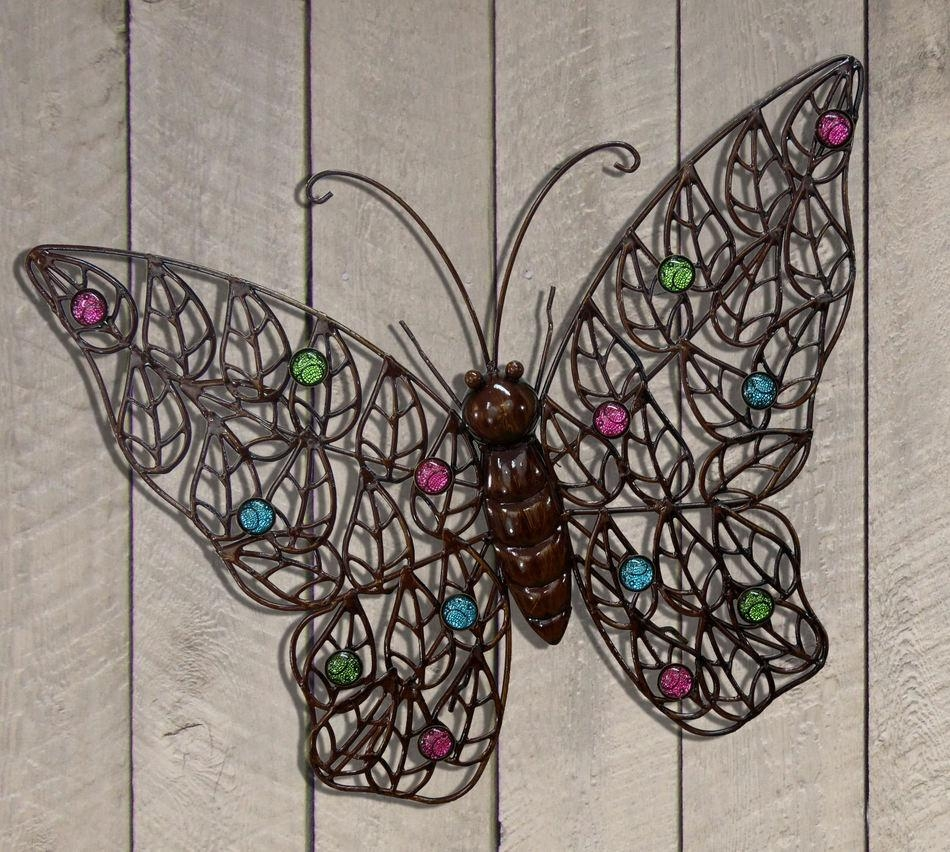 Impressive Butterfly Outdoor Wall Decor 42 Butterfly Outdoor Wall In Metal Large Outdoor Wall Art (Image 5 of 20)