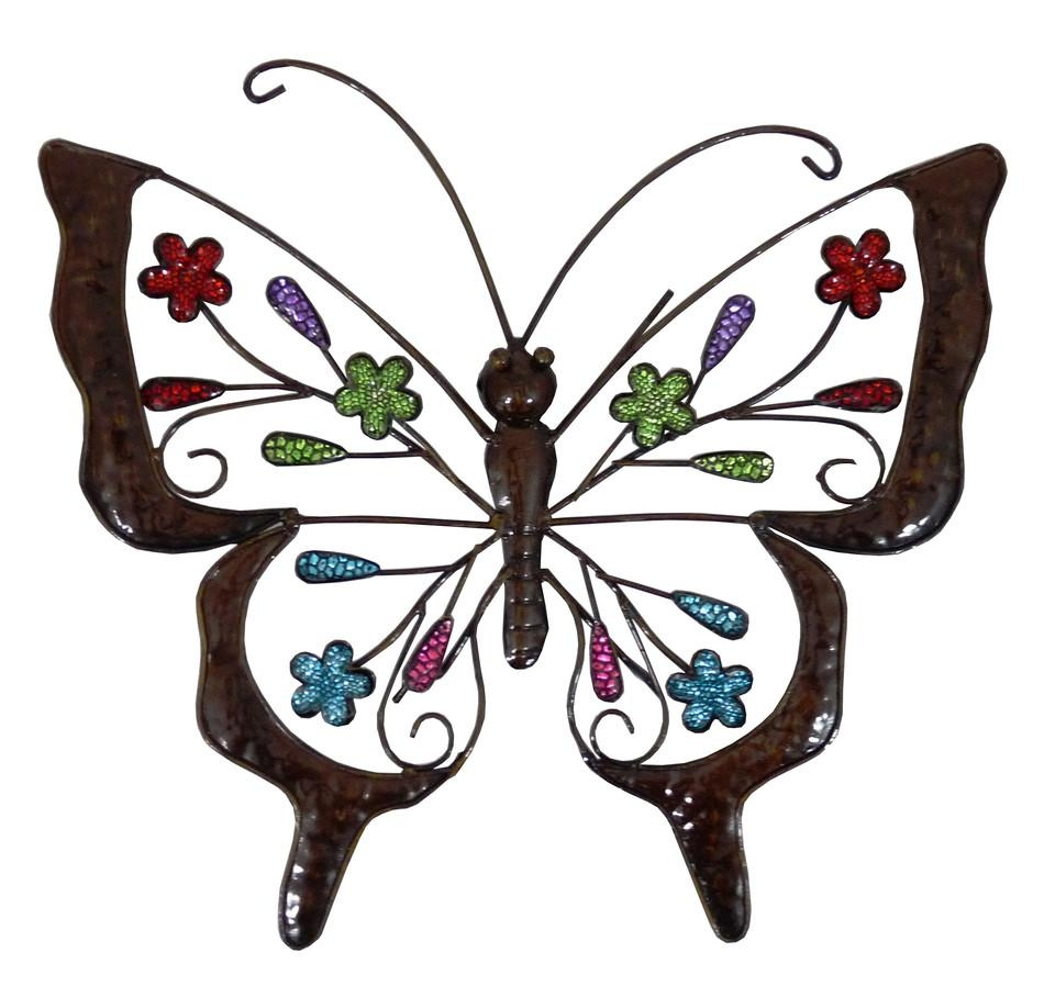 20 choices of large metal butterfly wall art wall art ideas for Outdoor butterfly decor