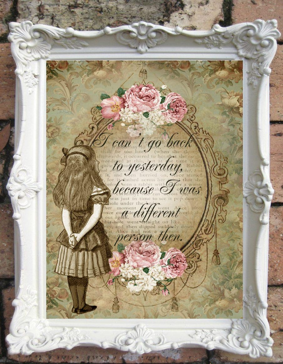 Impressive Shabby Chic Wall Art Pinterest Shabby Chic Wall Art Pertaining To Shabby Chic Canvas Wall Art (Image 8 of 20)