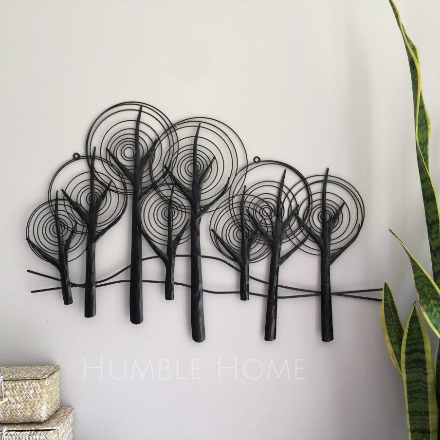 Impressive Wood Wall Sculpture Artists Black Metal Trees Wall Pertaining To Metal Tree Wall Art Sculpture (Image 4 of 20)
