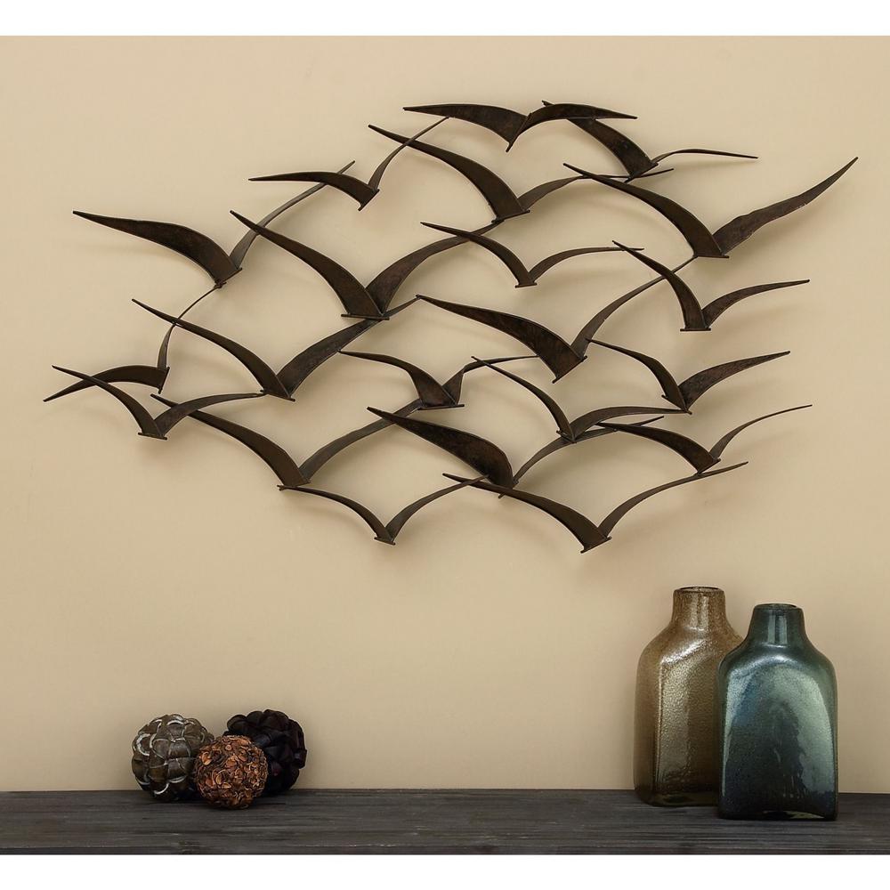In Flight 47 In. Flock Of Birds Metal Wall Sculpture-80954 - The intended for Flock of Birds Metal Wall Art