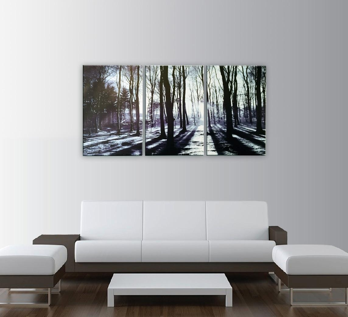 In The Forest 3 Piece Photo Art Print Regarding 3 Piece Modern Wall Art (Image 14 of 20)