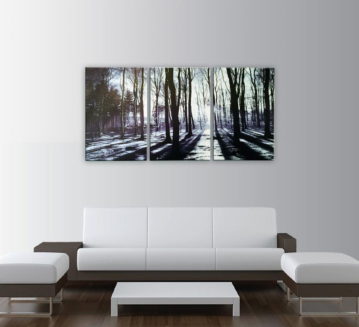 In The Forest 3 Piece Photo Art Print Regarding 3 Piece Modern Wall Art (View 7 of 20)