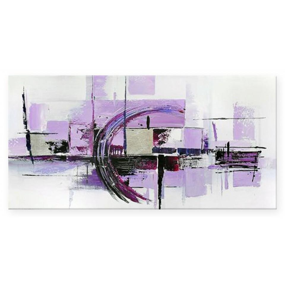 In The Groove (Large 140Cm) – Purple Paintings – Modern Wall Art Within Purple Abstract Wall Art (Image 7 of 20)