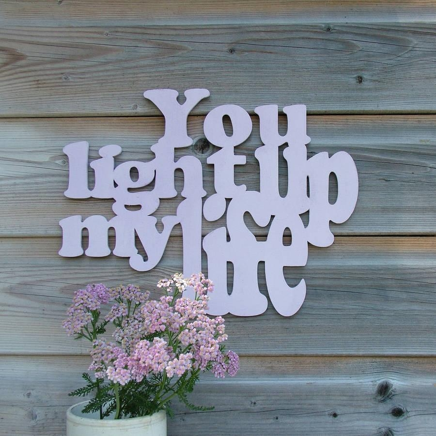 In Your Own Words' Wooden Wall Artseahorse With Wooden Words Wall Art (Image 4 of 20)