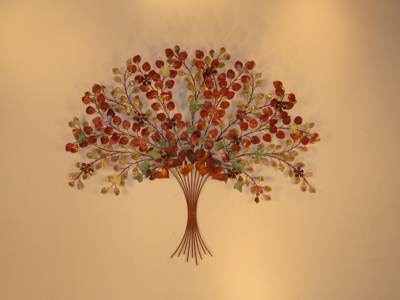 Indoor Metal Wall Art - Wall Art - Metal Sculpture - Metal Decor with Bronze Tree Wall Art