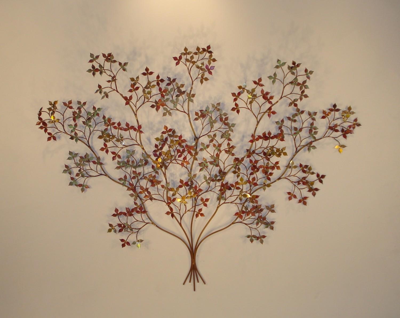 Indoor Metal Wall Art - Wall Art - Metal Sculpture - Metal Decor within Botanical Metal Wall Art