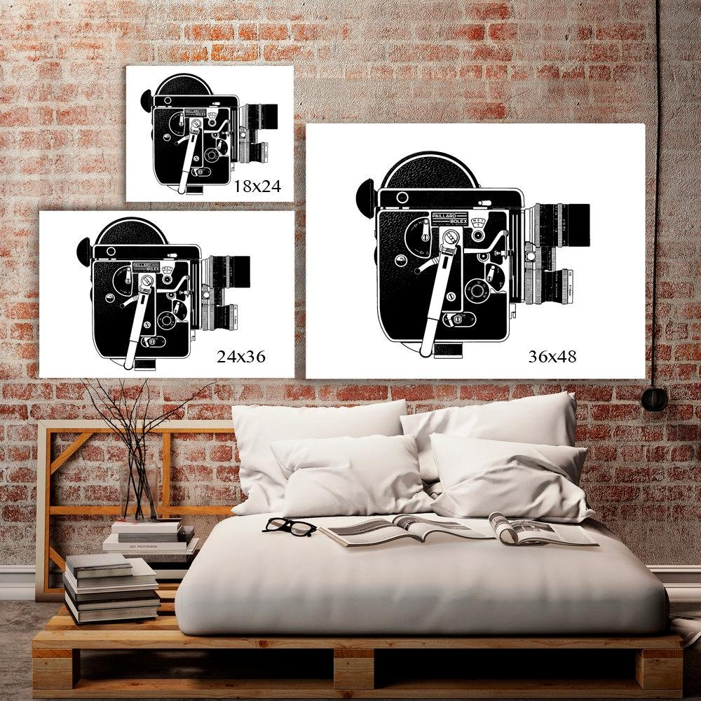 Industrial Art Machine Age Hipster Room Decor 8Mm Movie Inside Vintage Industrial Wall Art (View 4 of 20)