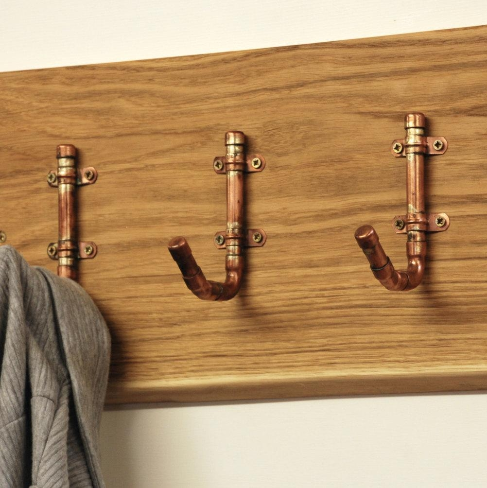 Industrial Copper Pipe Hooks  Fathers Day – Gift For Dad – Dad With Wall Art Coat Hooks (Image 11 of 20)