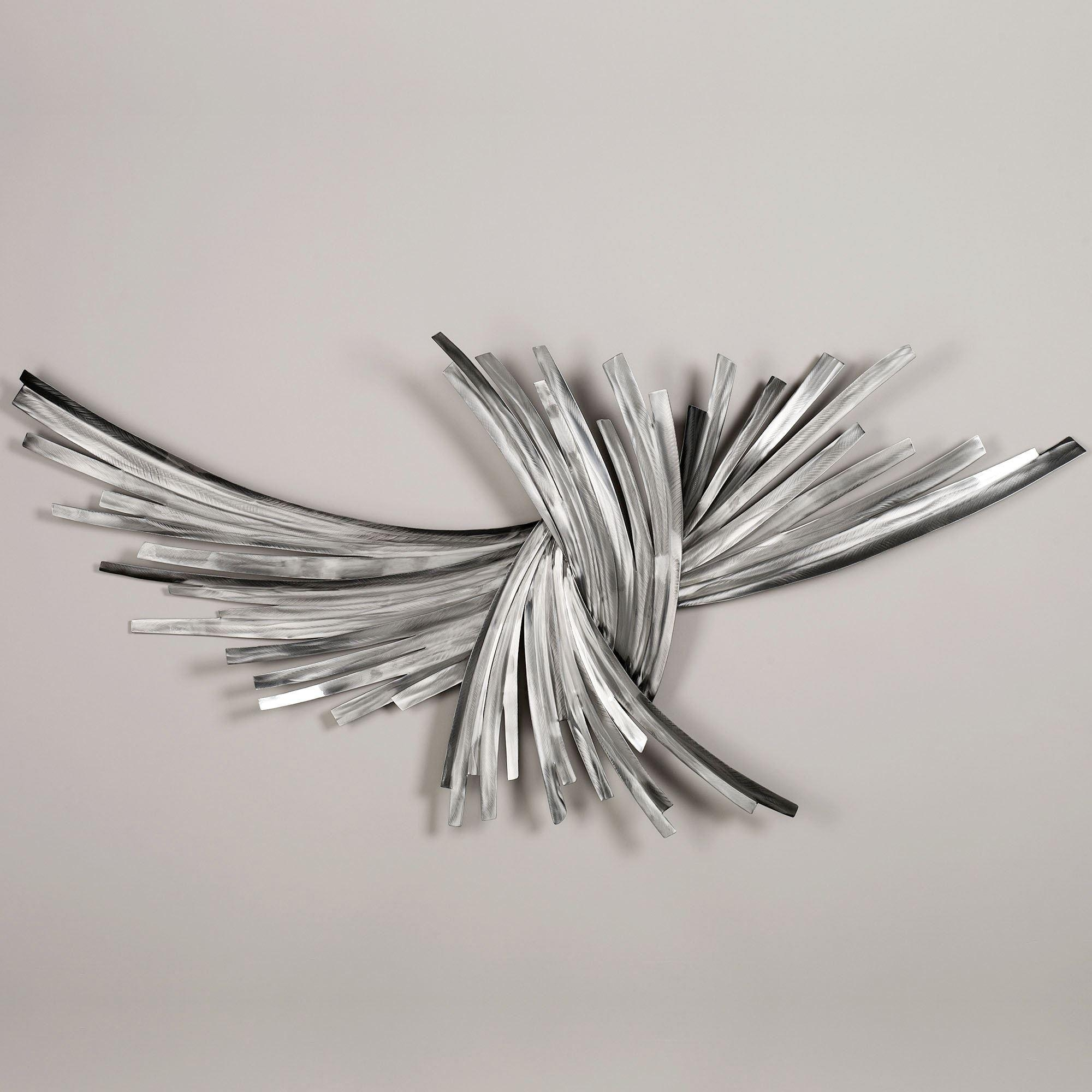 Infinity Silver Metal Wall Sculpture With Contemporary Metal Wall Art Sculpture (View 3 of 20)