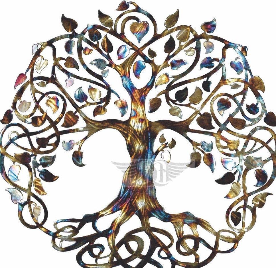 Infinity Tree Tree Of Life Metal Wall Art Metal Tree Art Regarding Celtic Tree Of Life Wall Art (Image 11 of 20)