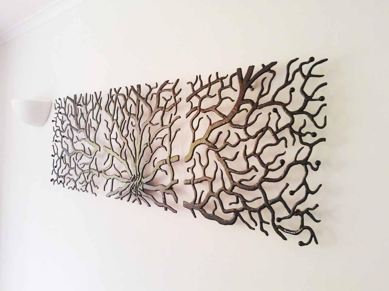 Innovative Large Metal Tree Wall Decoration 128 Oak Tree Large regarding Oak Tree Metal Wall Art