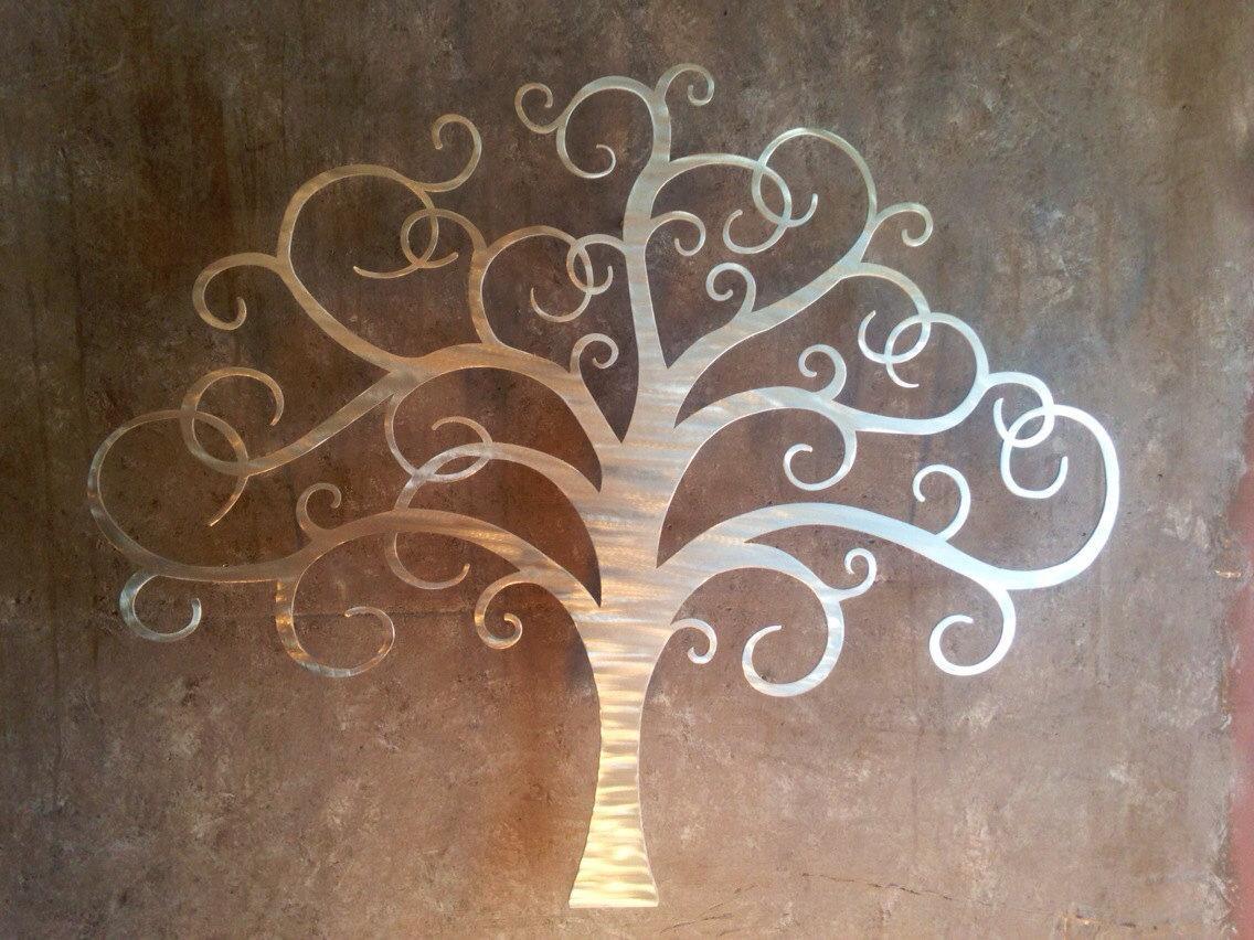 Innovative Large Metal Tree Wall Decoration 128 Oak Tree Large with Oak Tree Metal Wall Art