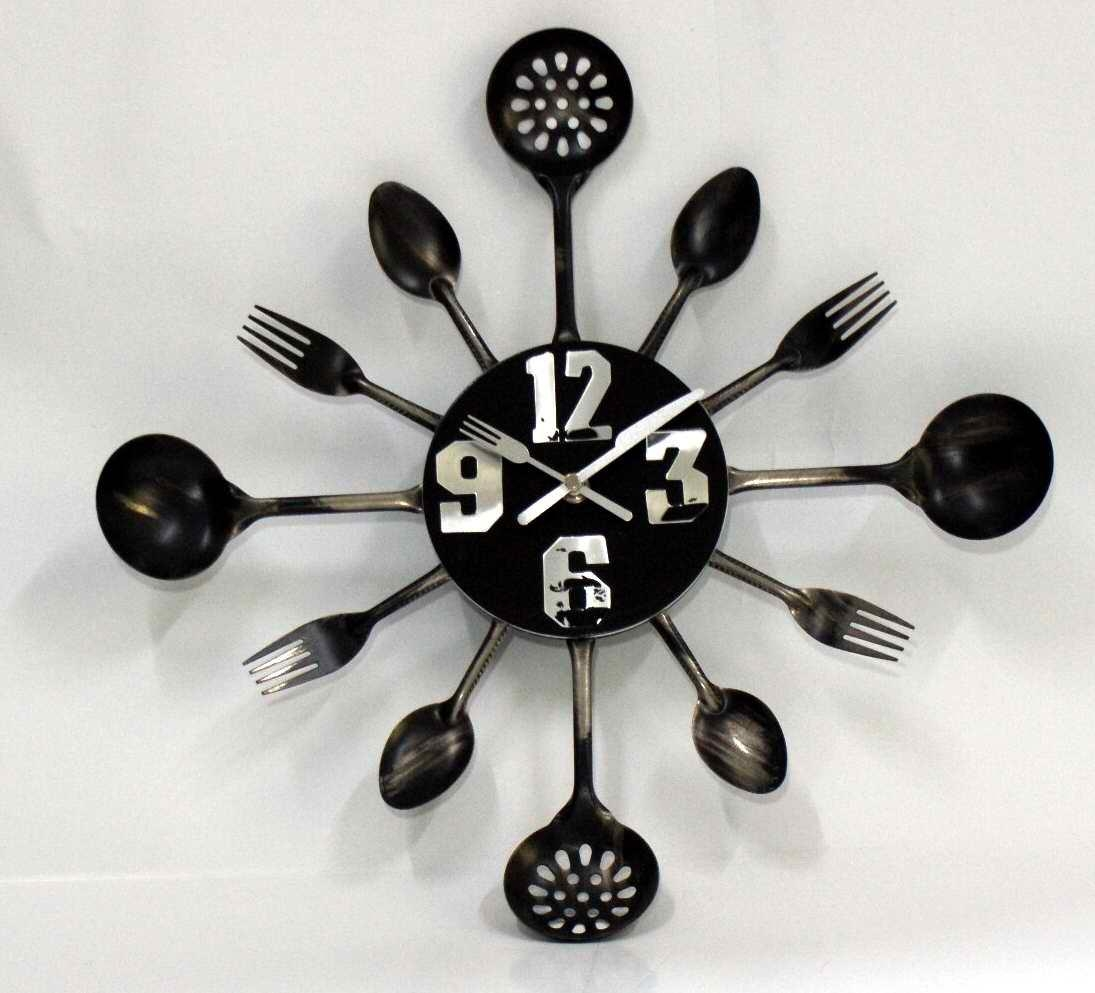 Innovative Wall Clock Art 118 Clock Wall Art Stickers Contemporary within Oversized Cutlery Wall Art