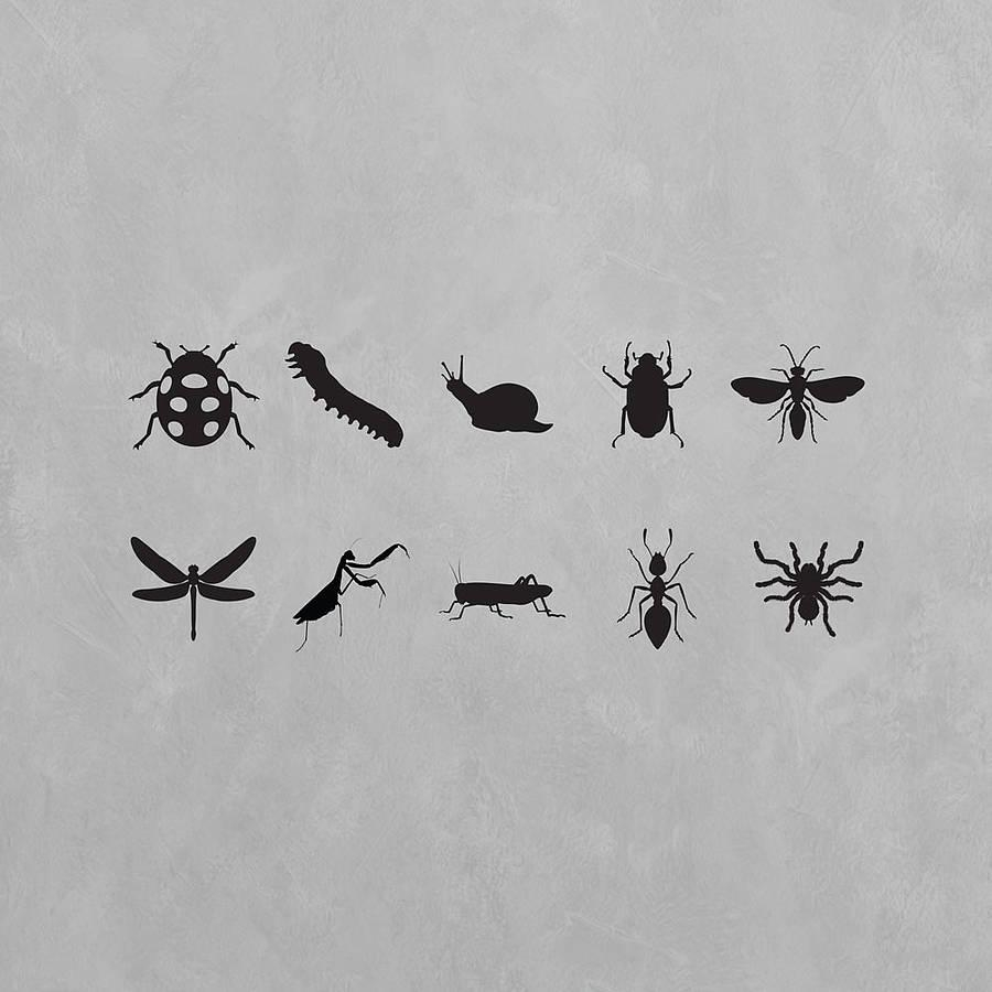 Insects Wall Art Decal Pack For Kidsvinyl Revolution throughout Insect Wall Art