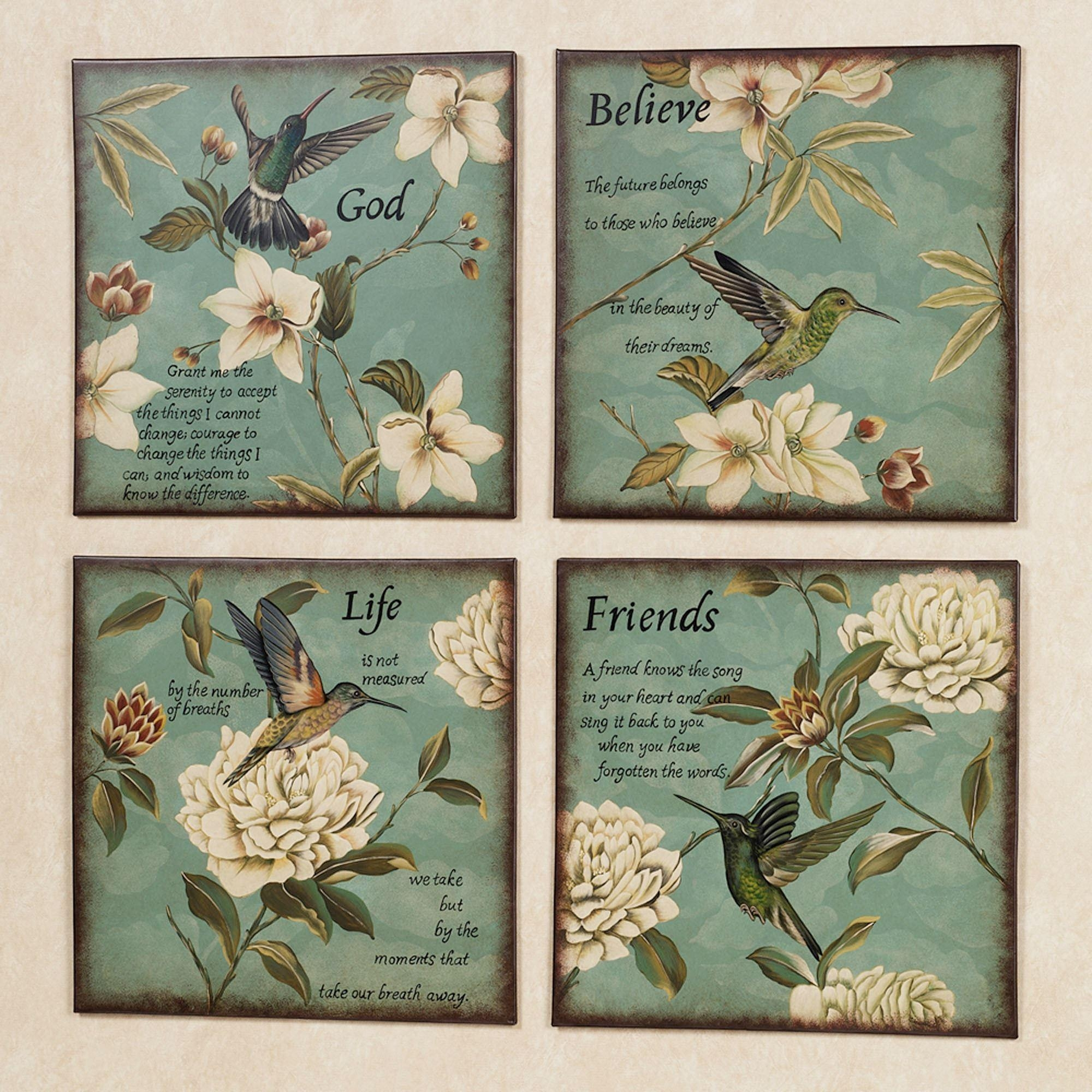 Inspirational Hummingbirds Wall Plaque Set In Inspirational Wall Plaques (Image 5 of 20)