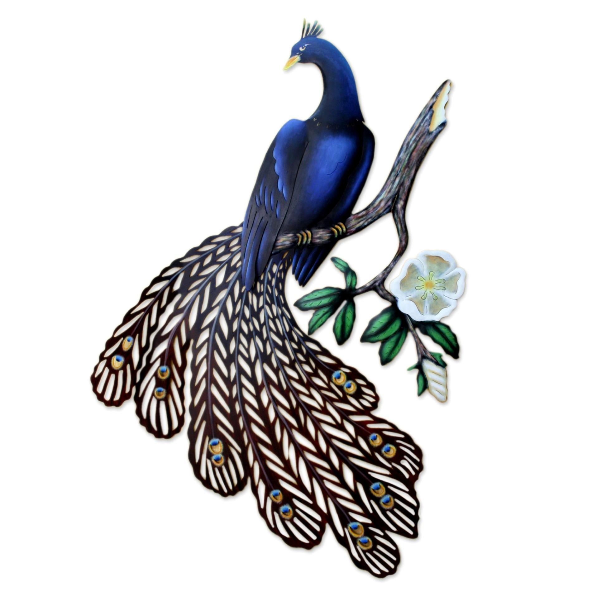 Inspirational Outdoor Metal Wall Decor Canada intended for Metal Peacock Wall Art