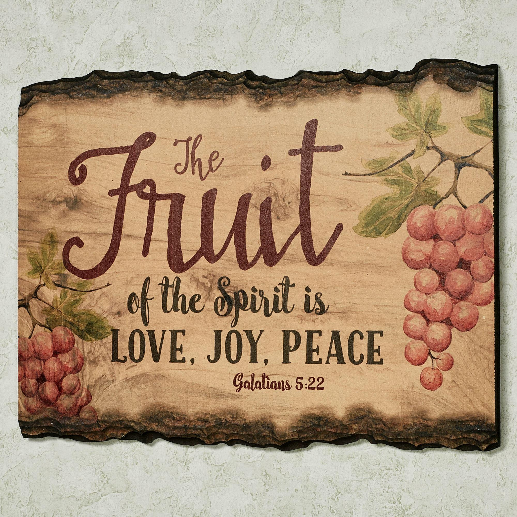 Inspirational Wall Plaques | Touch Of Class inside Fruit Of The Spirit Wall Art