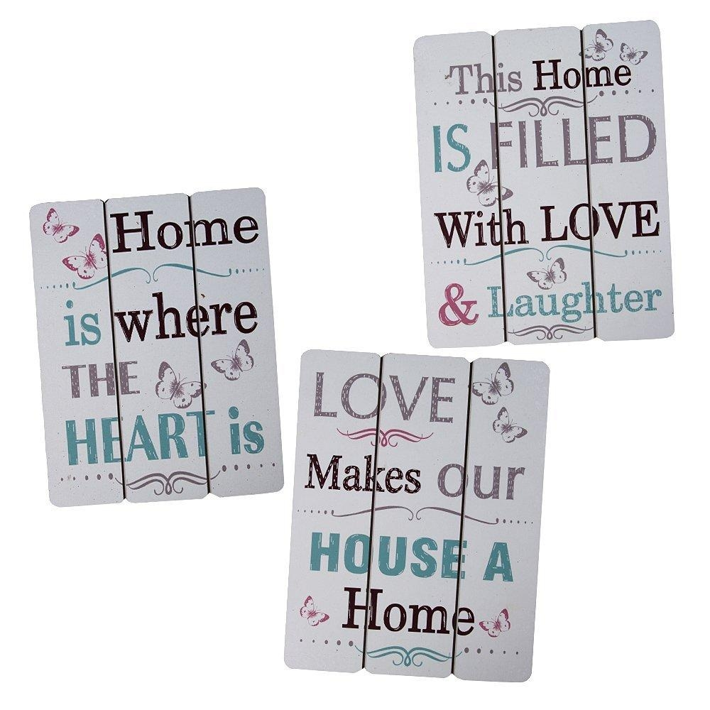 Inspirational Wooden Plaques Wall Art Home Decor Set Of 3 With Inspirational Wall Plaques (Image 9 of 20)