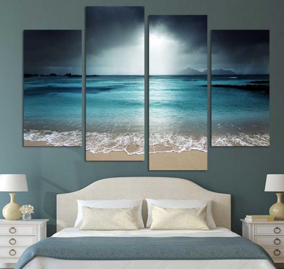 Inspiring Beach Wall Art Decoration Ideas | Home Interior & Exterior throughout Beach Wall Art for Bedroom
