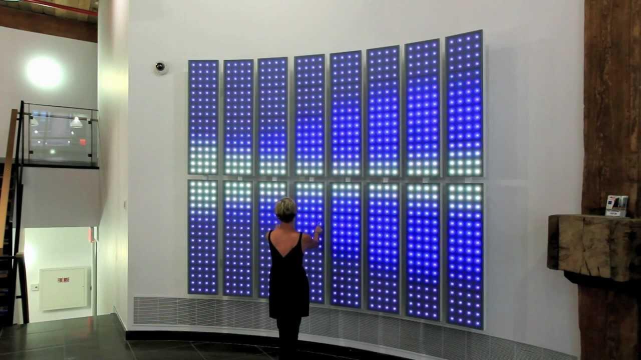 Interactive Led Art Wallrobert Stratton - Youtube pertaining to Electronic Wall Art