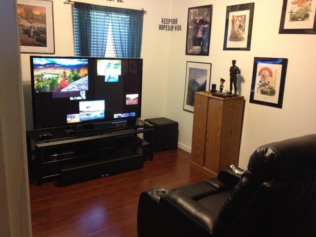 Interior : Outstanding Small Man Cave Media Room Ideas Brown With Media Room Wall Art (Image 10 of 20)
