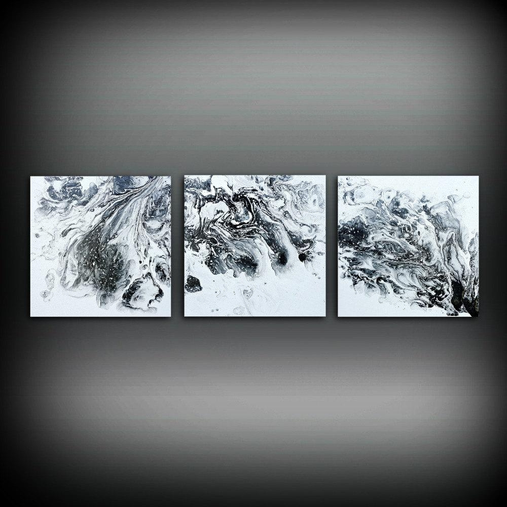 Interior: Triptych Abstract Canvas Wall Art For Interesting Within Triptych Art For Sale (Image 6 of 20)