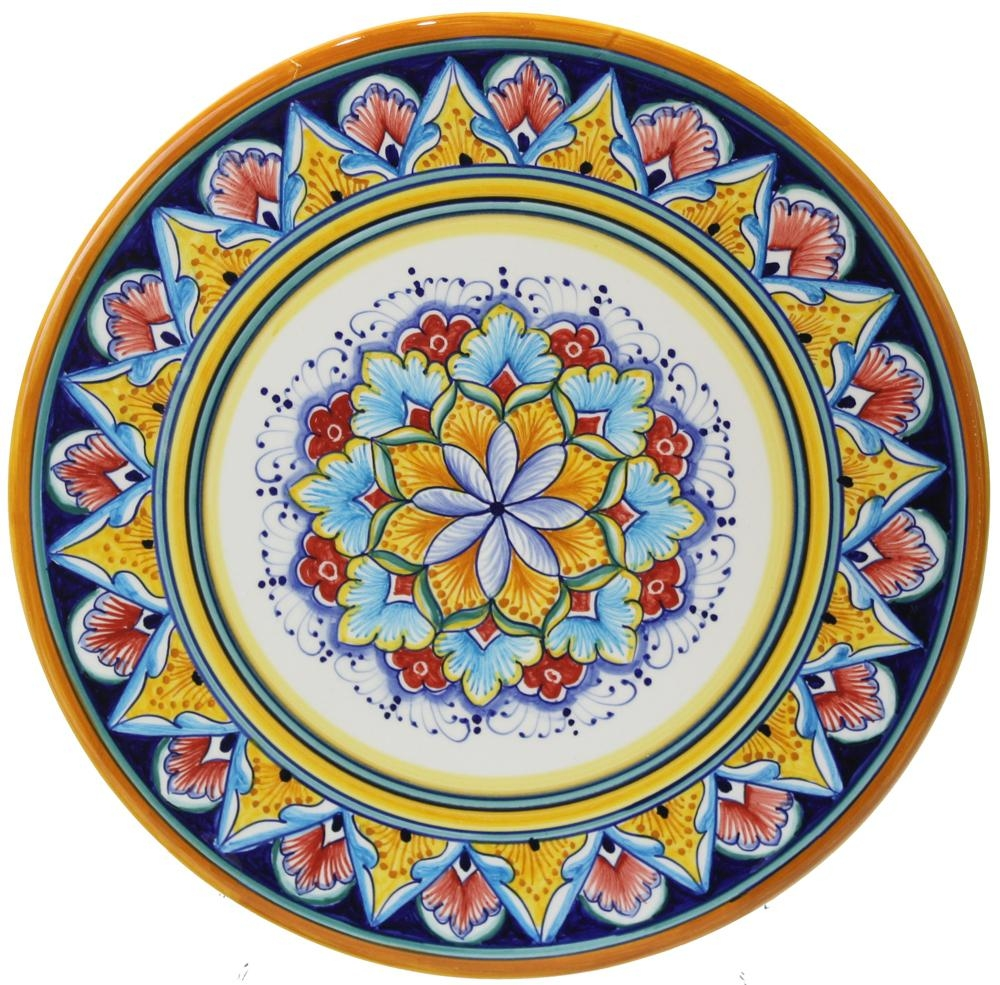 Italian Majolica Ceramic Cheese Plate With Italian Ceramic Wall Art (Image 11 of 20)