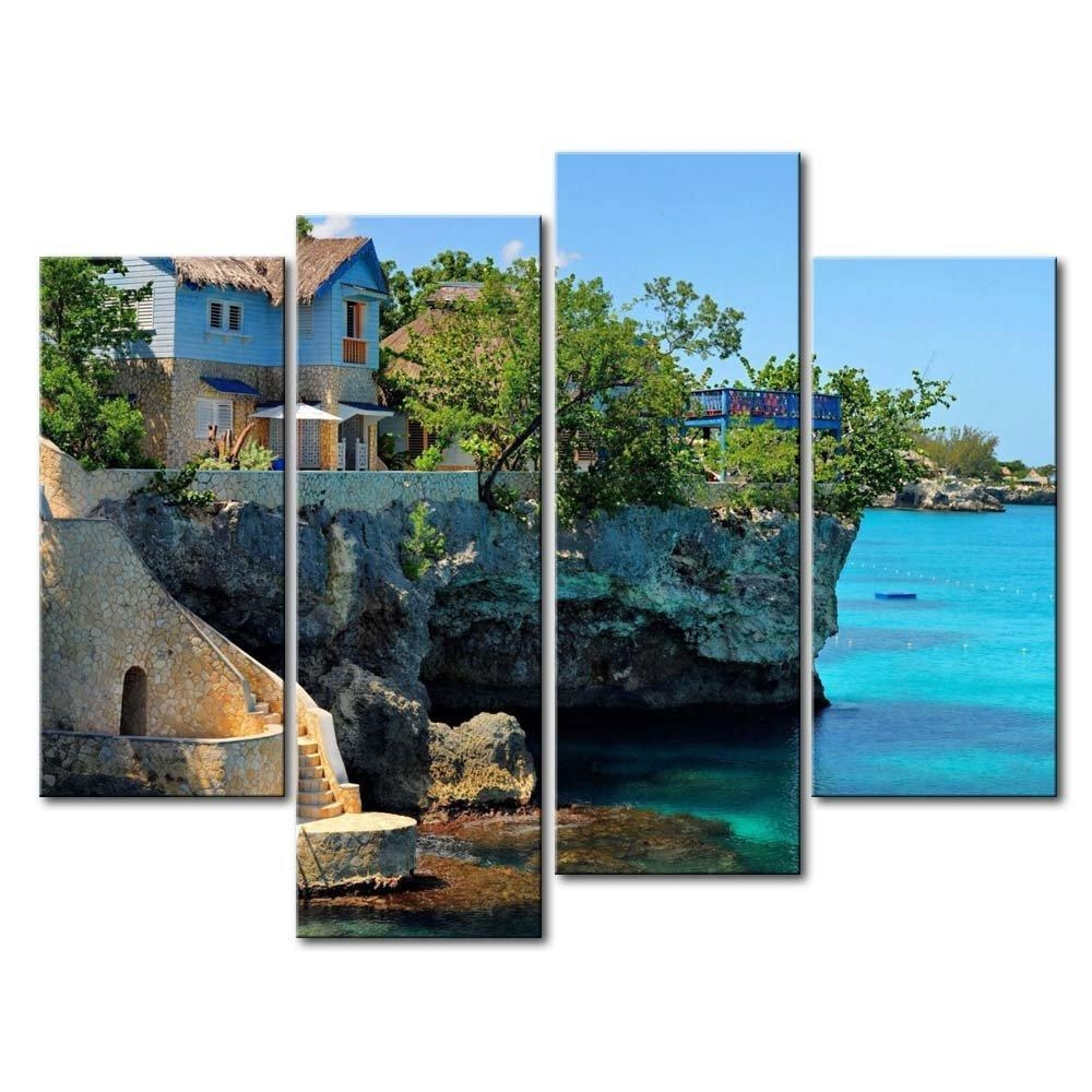 Jamaica Canvas Wall Art Promotion Shop For Promotional Jamaica Within Coastal Wall Art Canvas (Image 10 of 20)