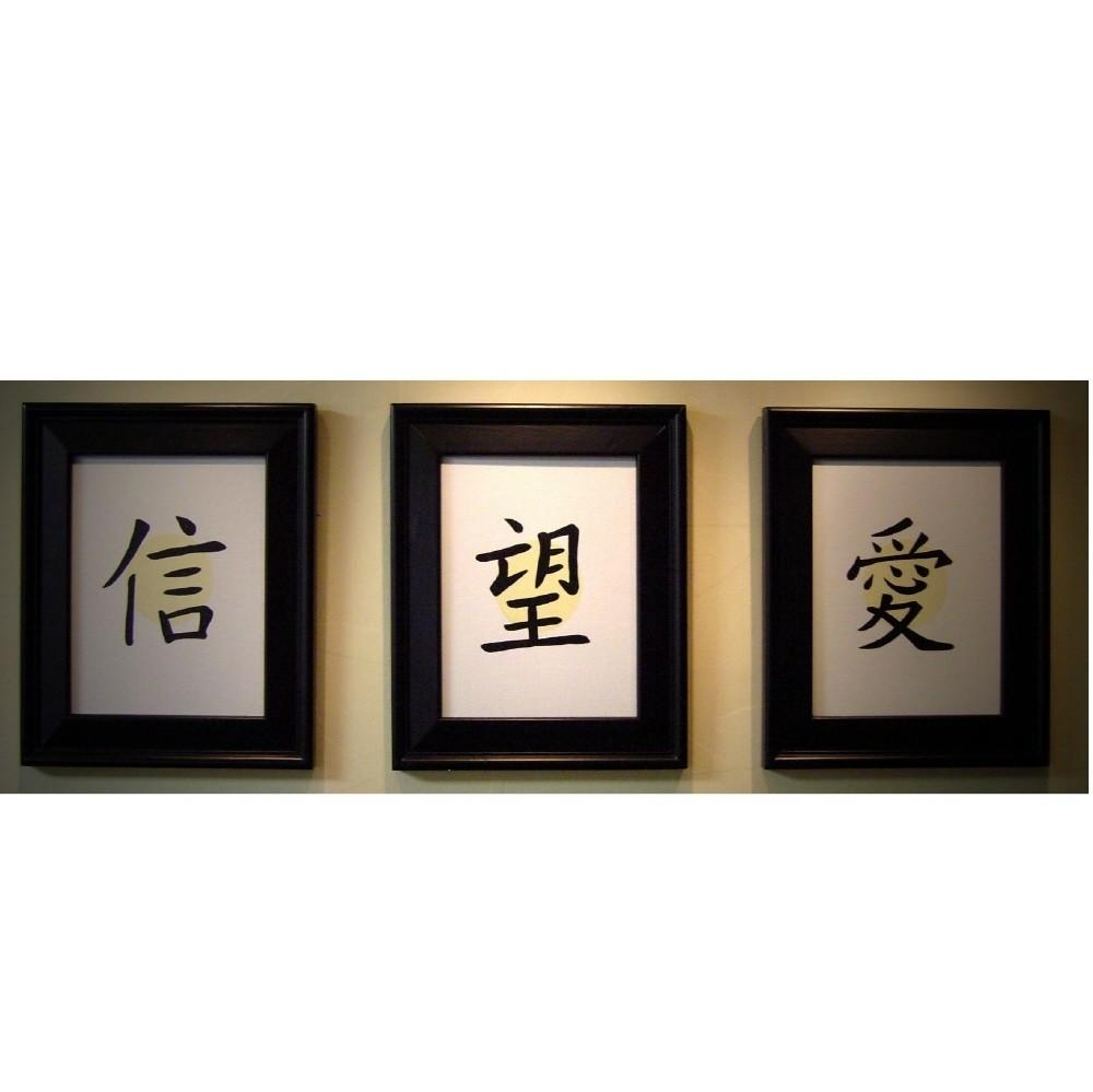 Japanese Letters Wall Decals ~ Color The Walls Of Your House For Chinese Symbol Wall Art (View 3 of 20)