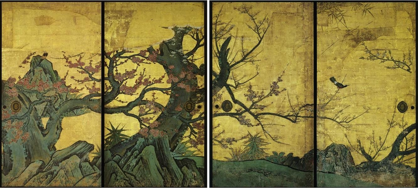 Japanese Painting – Wikipedia Pertaining To Japanese Wall Art Panels (Image 7 of 20)