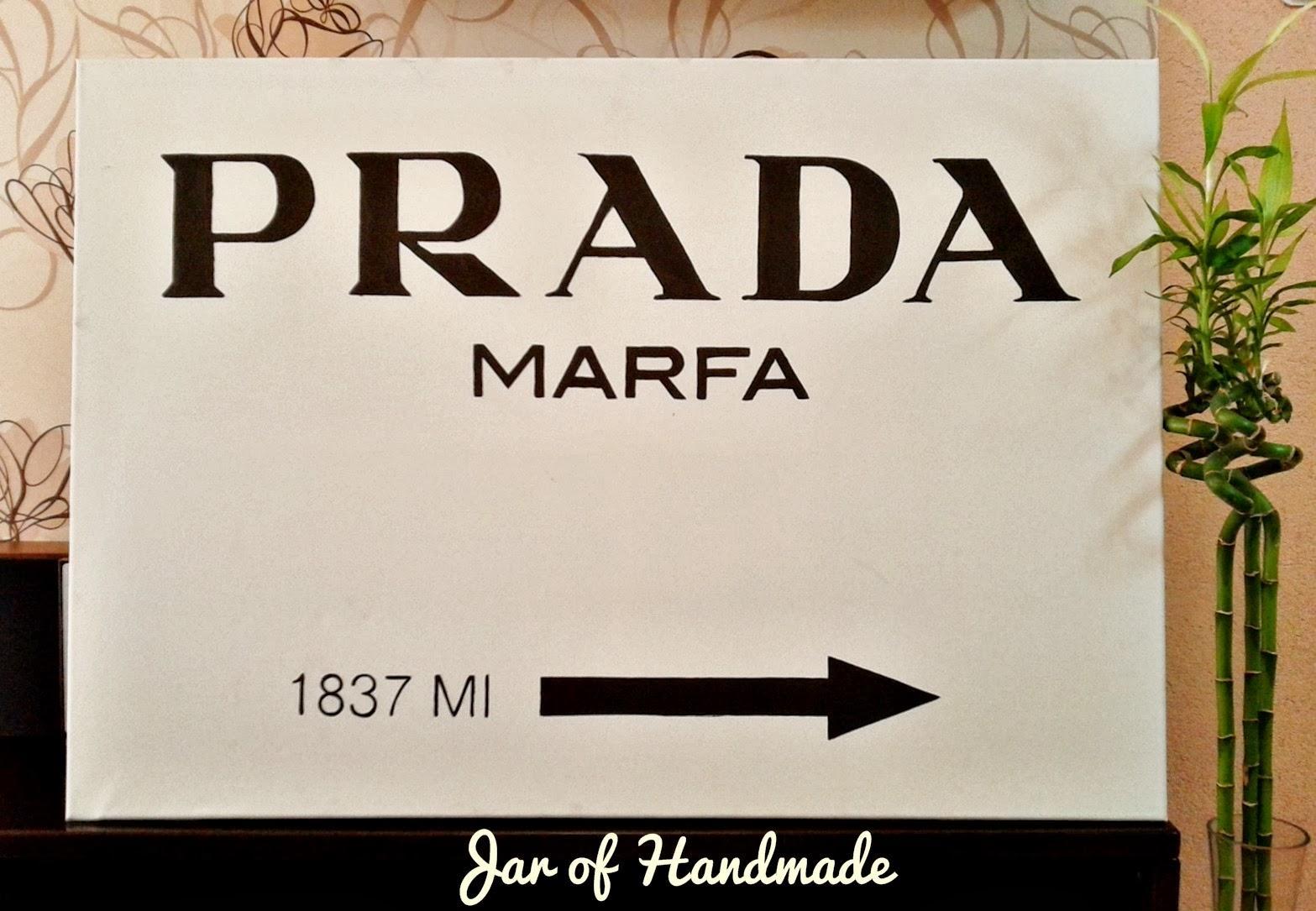 Jar Of Handmade: Diy: Prada Marfa Wall Art with Prada Wall Art