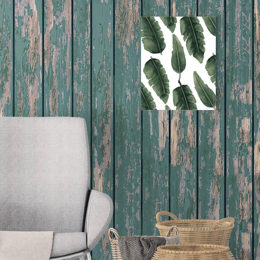 """Jetty Home 8 In. X 10 In. """"tropical Banana Palm Leaf"""" Printed Wall pertaining to Palm Leaf Wall Art"""
