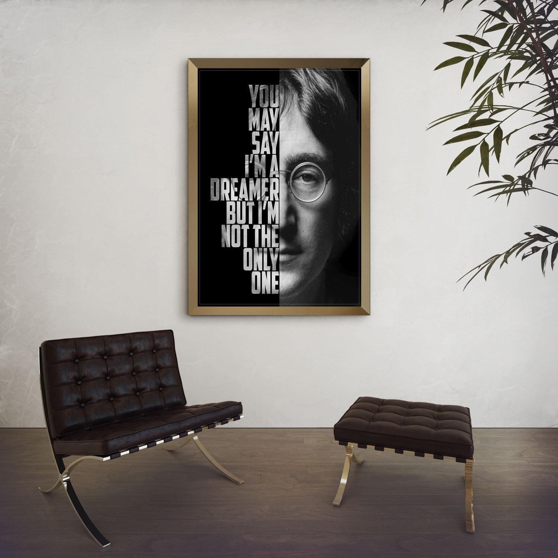 John Lennon Imagine John Lennon Poster Song Lyric Art in Music Lyrics Wall Art