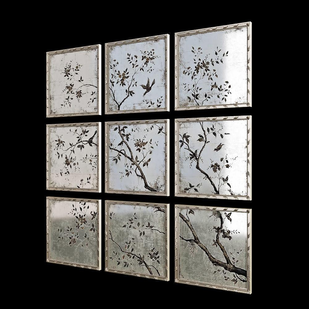 John Richard Set Of Nine Portobello Mirrors 3D Model Max Obj Fbx Pertaining To John Richard Wall Art (View 18 of 20)