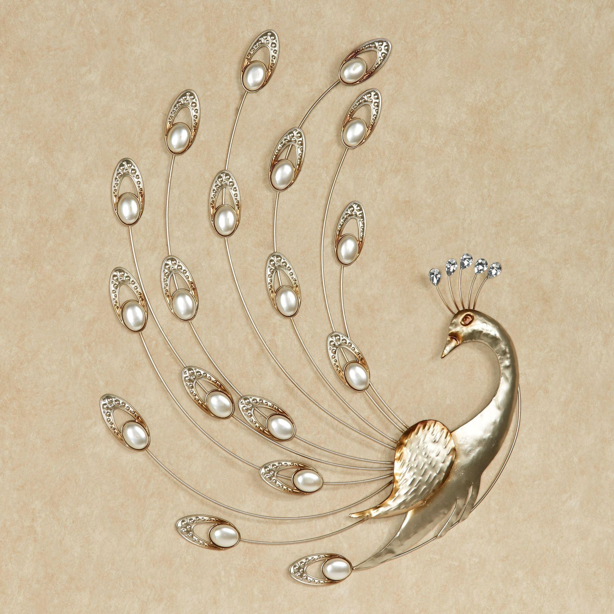 Julietta Pearl Peacock Metal Wall Art Within Exclusive Wall Art (Image 14 of 20)