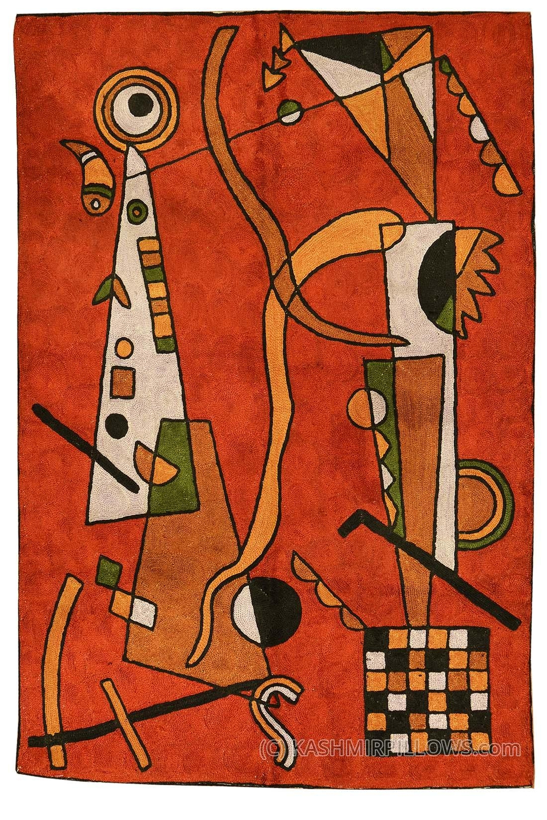 Kandinsky Rugs / Wall Art | Product Categories | Kashmir Pillows Intended For Burgundy Wall Art (Image 10 of 20)