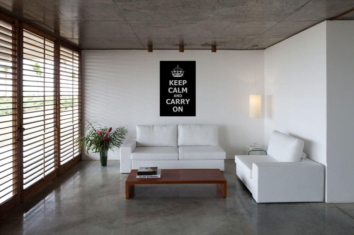 Keep Calm And Carry On Decor For Your Home | Idesignarch Within Keep Calm And Carry On Wall Art (Image 7 of 20)