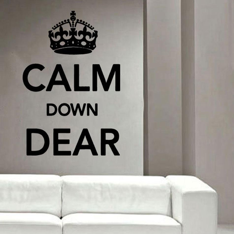 Keep Calm And Carry On Vinyl Wall Art »  Shop » Home In Keep Calm And Carry On Wall Art (Image 11 of 20)