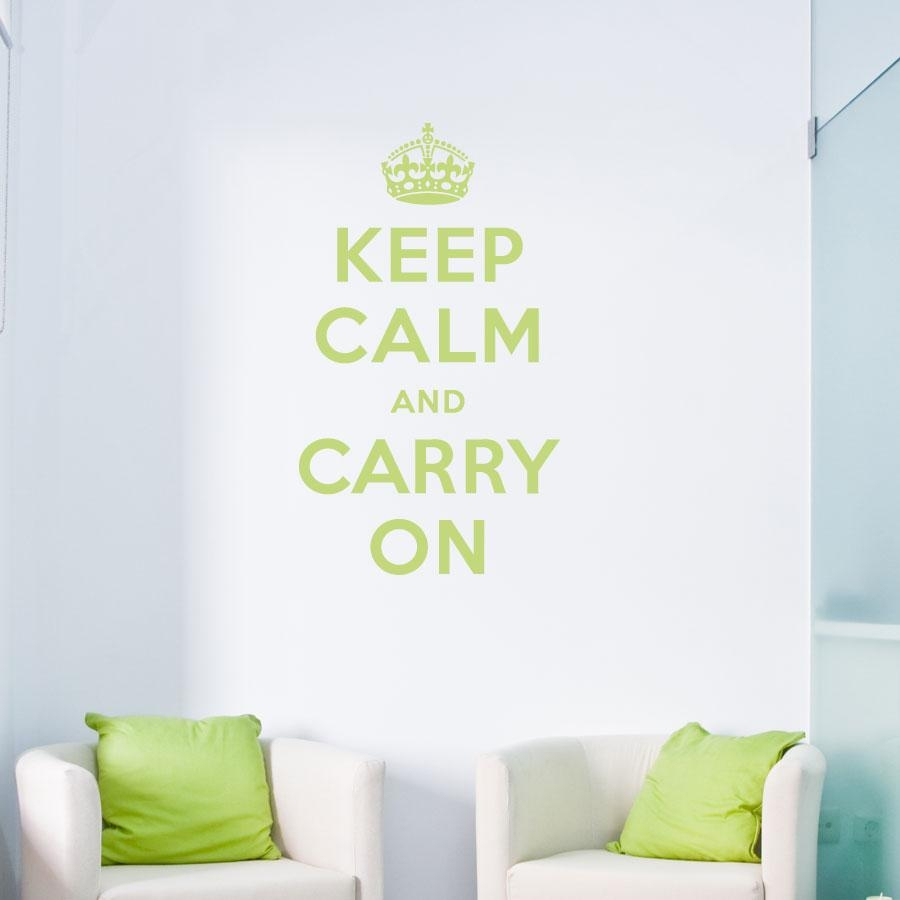 Keep Calm And Carry On Wall Quote Decal Regarding Keep Calm And Carry On Wall Art (View 3 of 20)