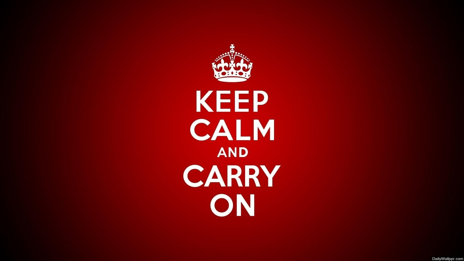 Keep Calm And Carry On – Wallpaper (View 11 of 20)