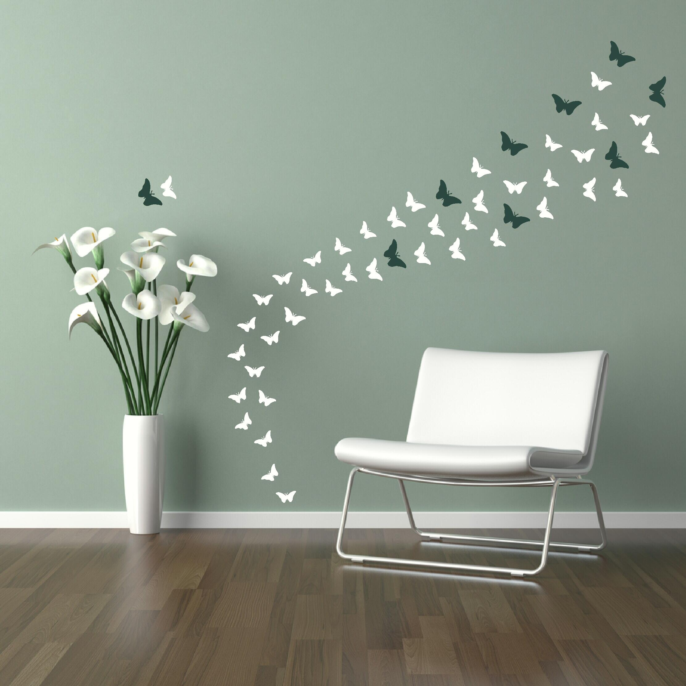 Kids Room: Wall Decal Ideas For Wall Decorations Stickers Tree For Butterflies Wall Art Stickers (View 7 of 20)