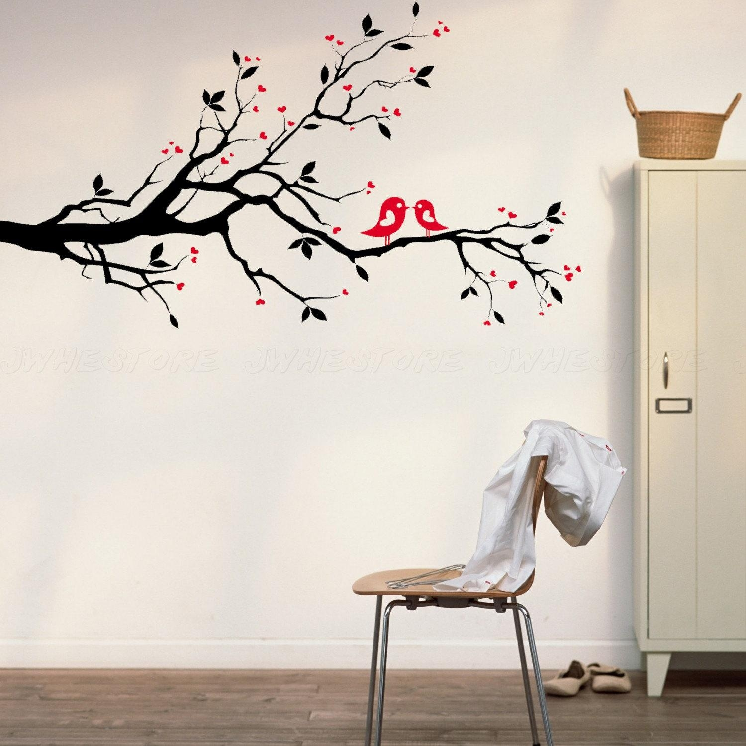 Kids Room: Wall Decal Ideas For Wall Decorations Wall Art Canvas Regarding Red Cherry Blossom Wall Art (View 12 of 20)