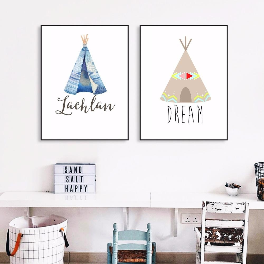 Kids Teepee Canvas Promotion Shop For Promotional Kids Teepee For Nursery Canvas Art (View 11 of 20)