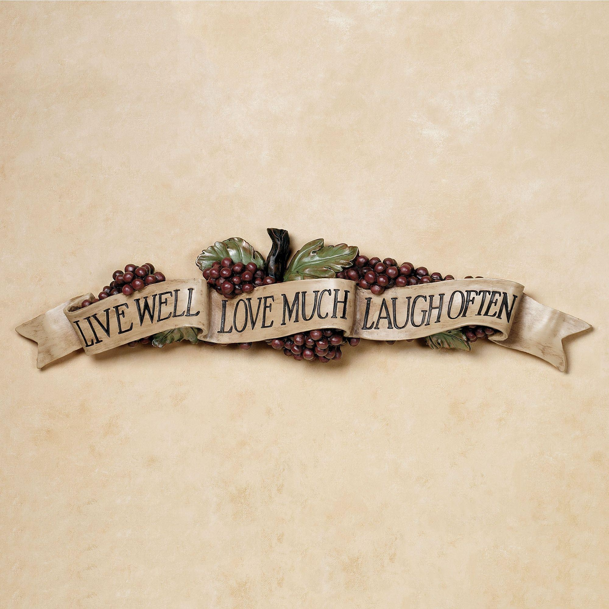 Kitchen And Dining Room Wall Decor | Touch Of Class Pertaining To Live  Laugh Love Wall