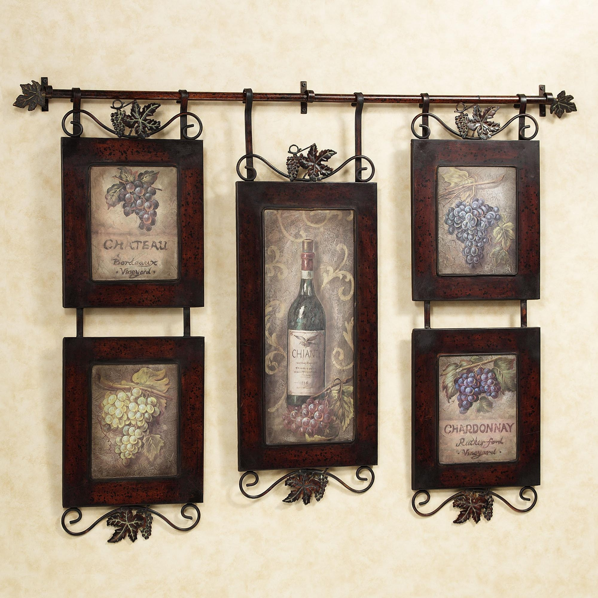 Kitchen : Awesome Rustic Country Kitchen Wall Decor With Brown For Brown Framed Wall Art (Image 7 of 20)
