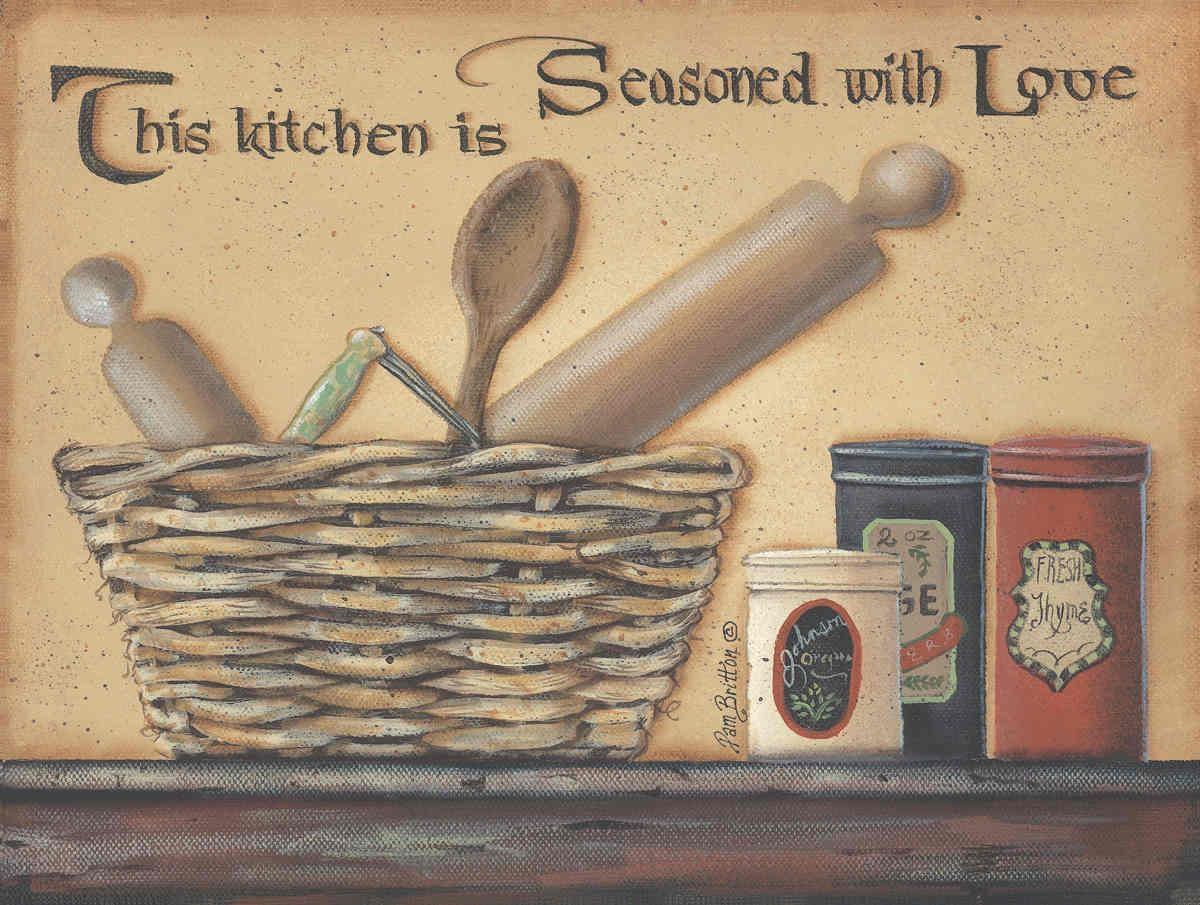 Kitchen Decor   Kitchen Framed Art Print   Kitchen Artwork, Page 2 regarding Primitive Wall Art