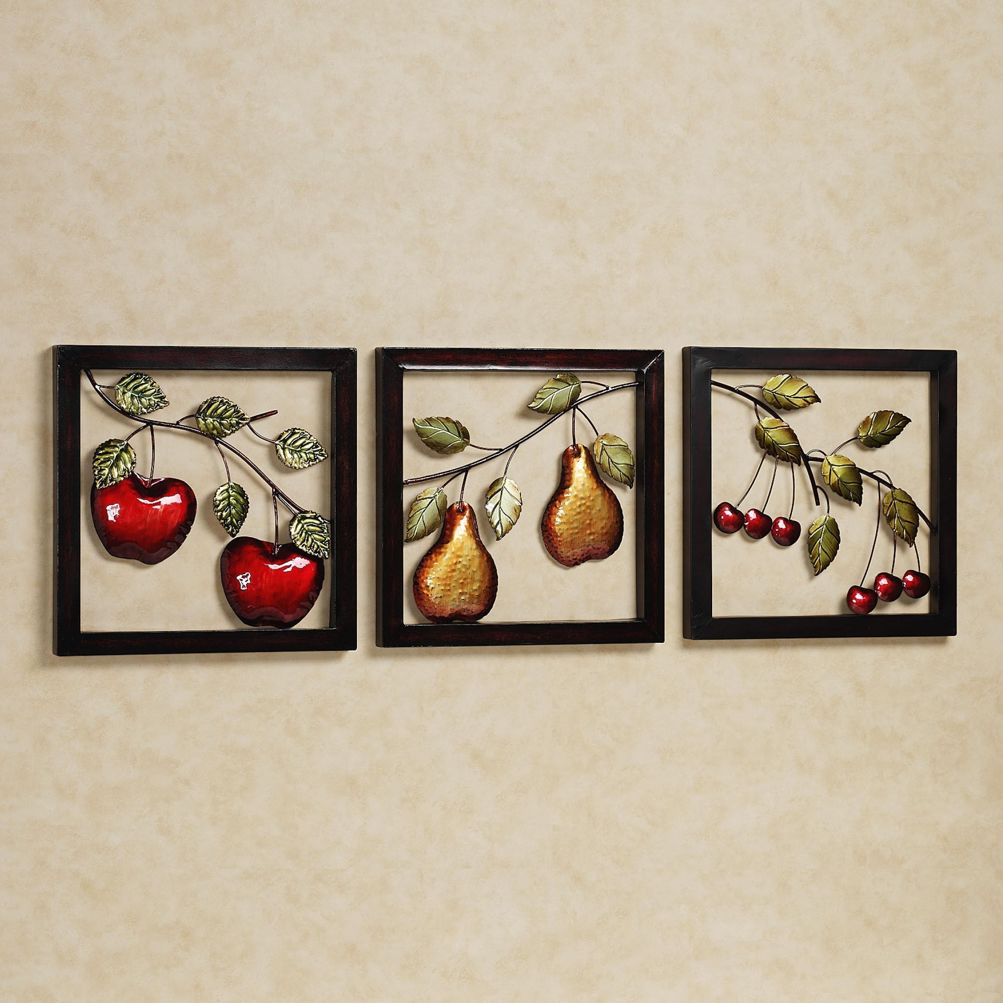 Kitchen Metal Wall Art Decor | Gen4Congress With Regard To Metal Framed Wall Art (Image 11 of 20)