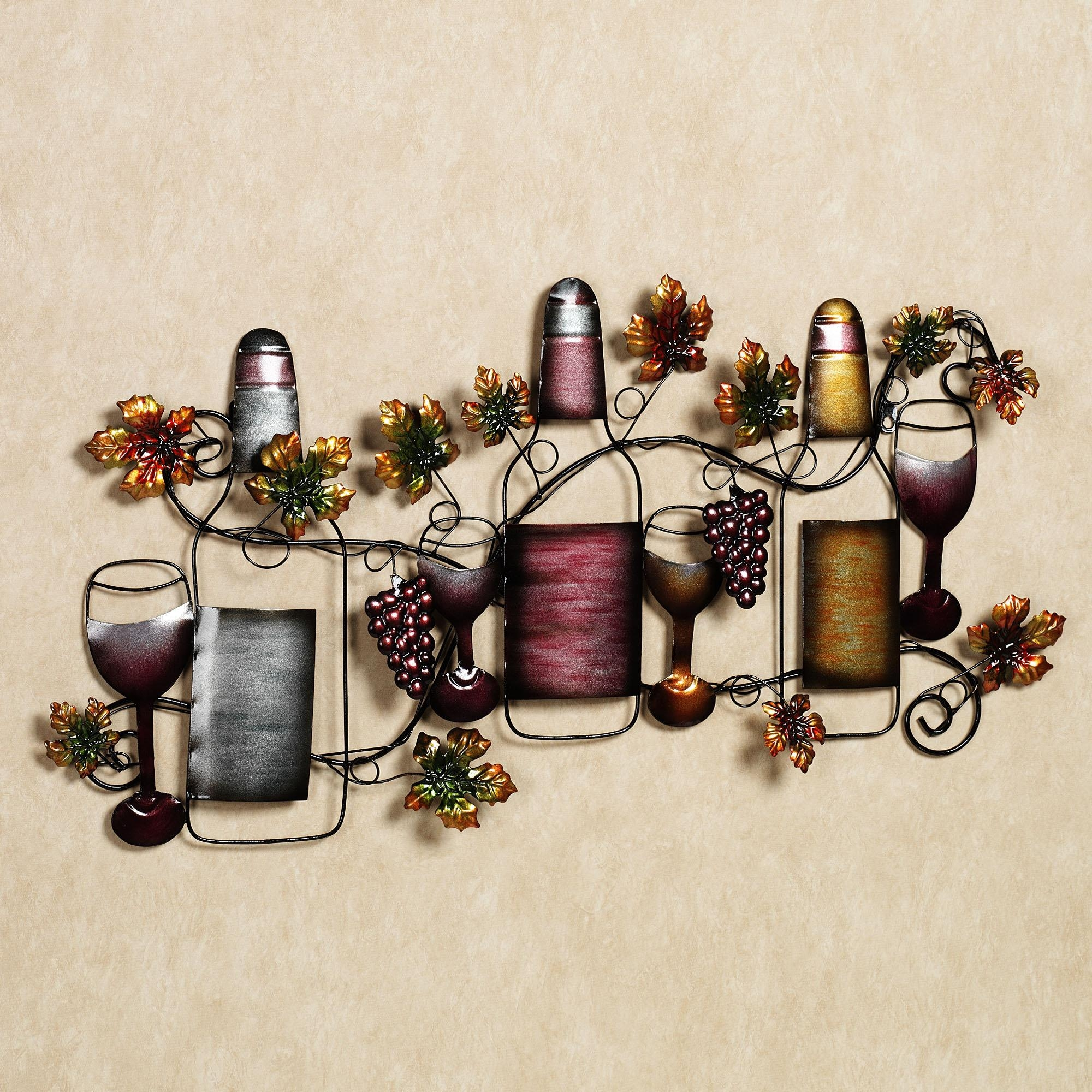 Kitchen Metal Wall Art Decor | Gen4Congress With Wine Metal Wall Art (Image 7 of 20)